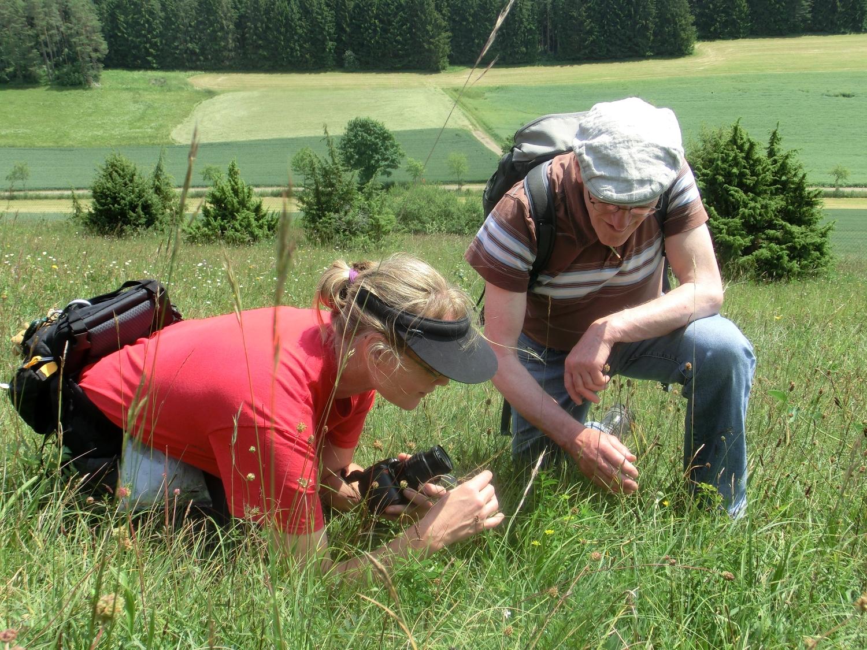 Hubert und Ulrike beim kartieren